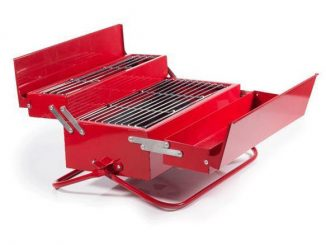 Red Metal Toolbox Grill