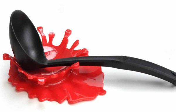 Red Paint Splash Spoon