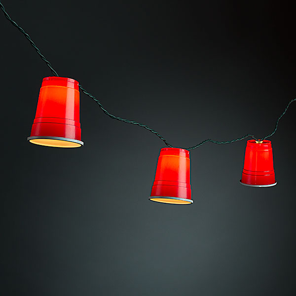 Monkey Party String Lights : Red Party Cup String Lights