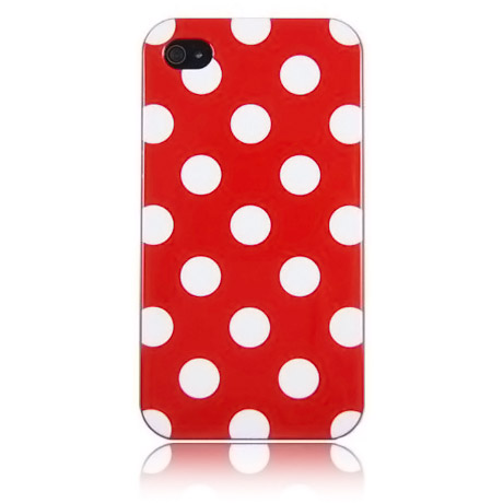 Red Polka Dot Flex Gel Case