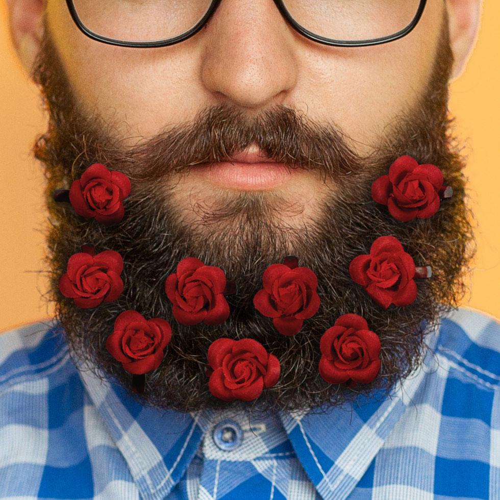 Red Rose Beard Bouquet