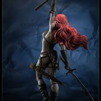Red Sonja Premium Format Figure Full-Length Rear