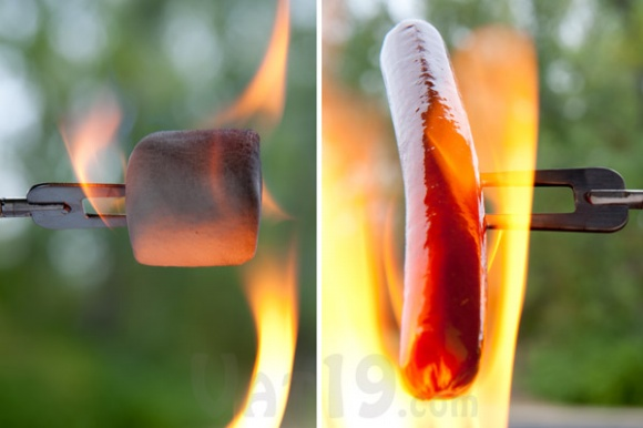 Reel Roaster Marshmallow and Hot Dog Skewer