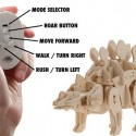 Remote Controlled DIY Wooden Dinosaurs Kit
