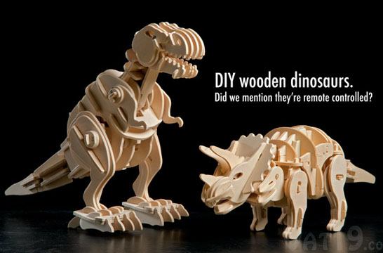Remote Controlled DIY Wooden Dinosaurs