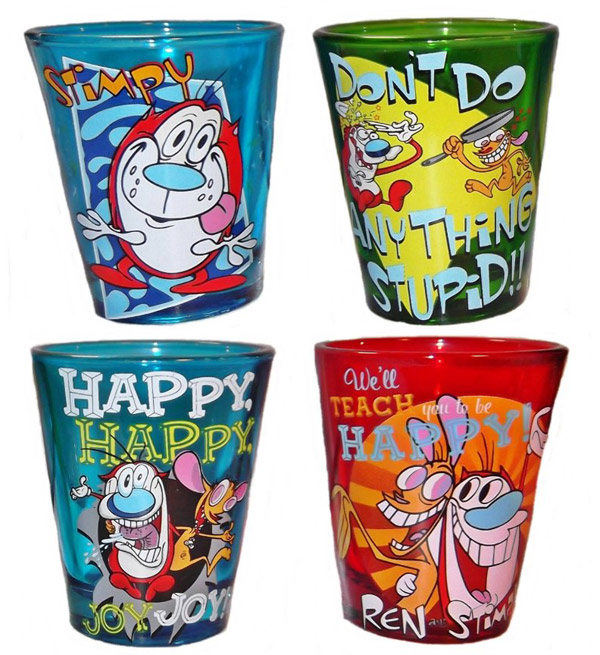 Ren and Stimpy Shot Glasses