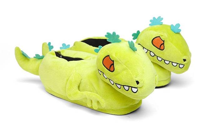 Reptar Rugrats Plush Slippers
