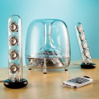 Resonating Transparent Speakers