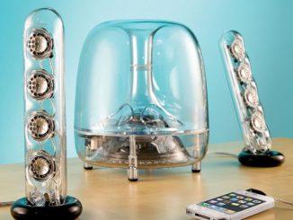 Resonating Transparent Speakers