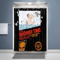 Retro Gaming Shower Curtain