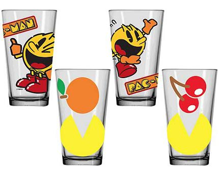 Retro Pac Man Drinking Glasses