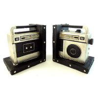 Retro Style Boombox Set Bookends