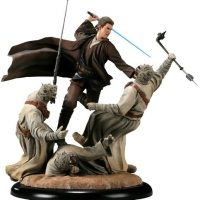 Revenge of the Jedi Anakin Skywalker VS Tusken Raiders Polystone Diorama