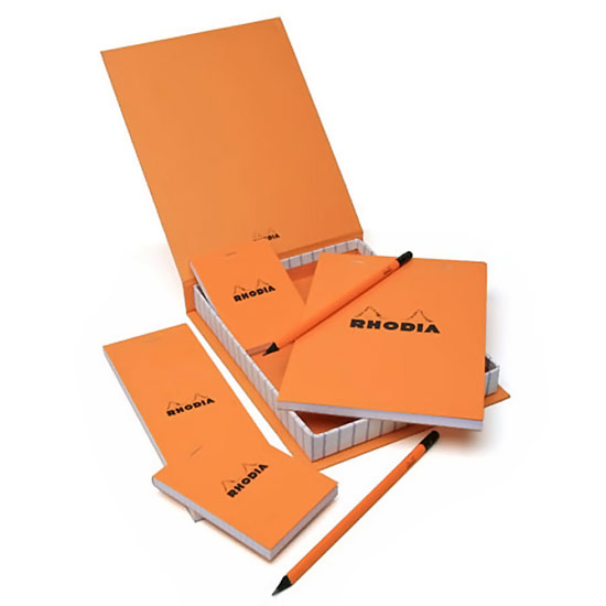 Rhodia Essential Notepads and Pencils Set