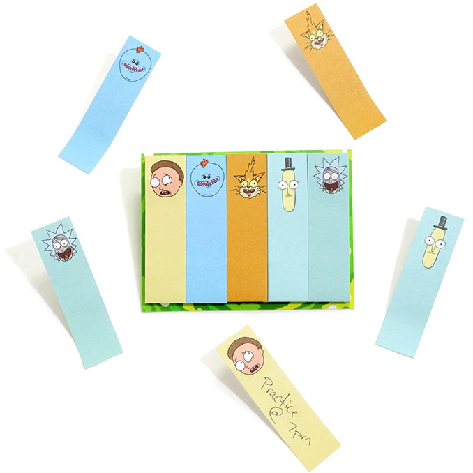 Rick And Morty Memo Tab Stickies