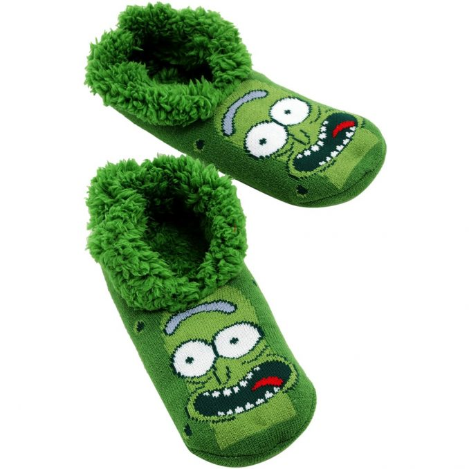 Rick and Morty Pickle Rick Cozy Slippers
