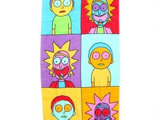 Rick And Morty Pop Art Beach Towel