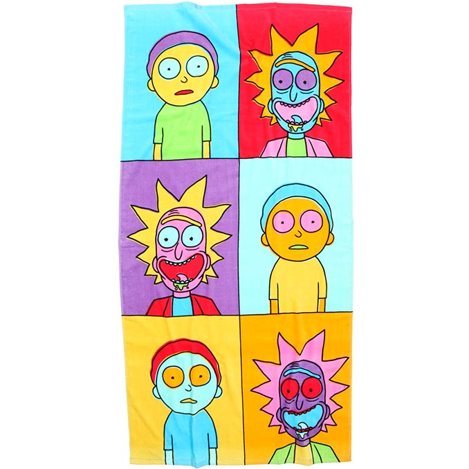 Rick And Morty Pop Art Beach Towel