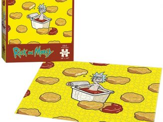Rick And Morty Szechuan Hot Tub Jigsaw Puzzle