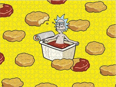 Rick And Morty Szechuan Hot Tub Puzzle