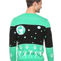 Rick And Morty World Peace Mens Holiday Sweater Back