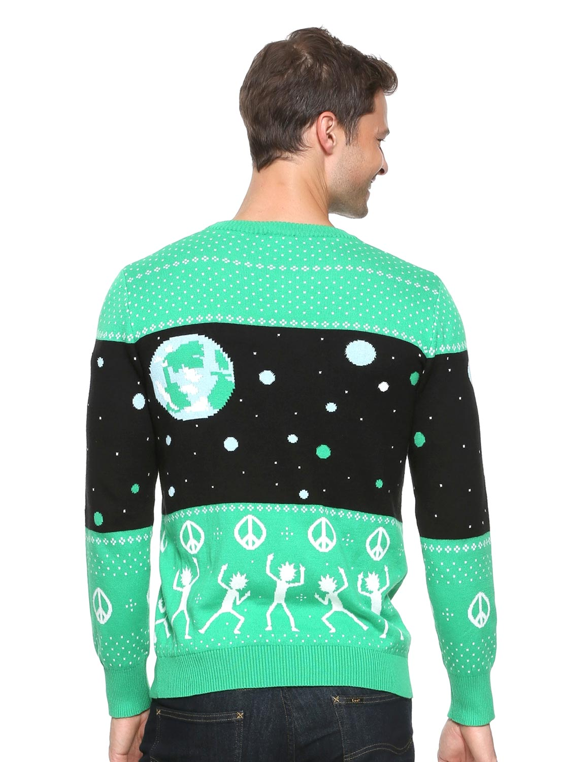 Rick And Morty World Peace Holiday Sweater