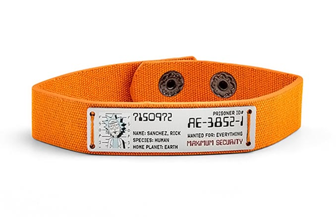 Rick And Morty Prisoner ID Bracelet