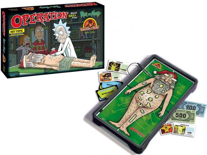 Rick and Morty Anatomy Park Edition Operation Board Game