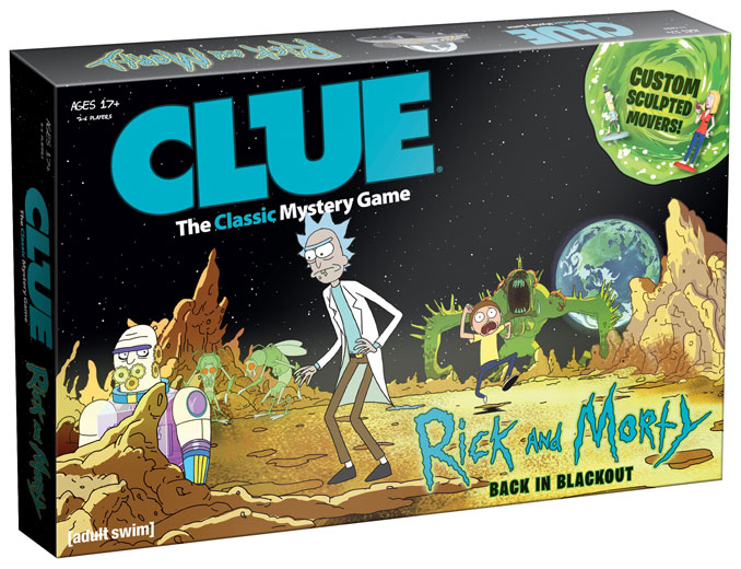 Rick and Morty Back Clue Game