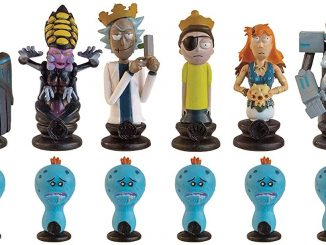Rick and Morty Collectors Chess Set Black Pieces