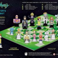 Rick and Morty Collectors Chess Set Box Back