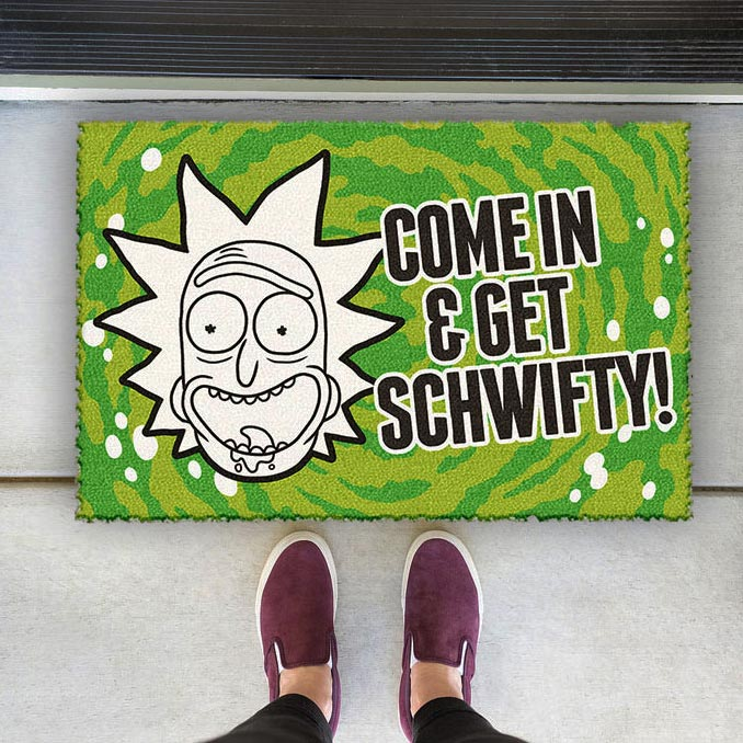 Rick and Morty Get Schwifty Doormat
