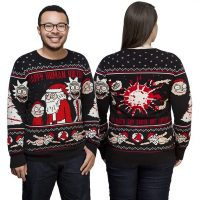 Rick and Morty Happy Human Holiday Knit Sweater