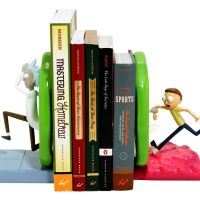 Rick and Morty Portal Bookends Books