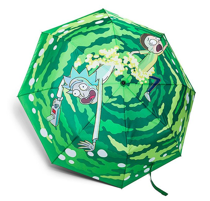 Rick and Morty Portal Jump Umbrella