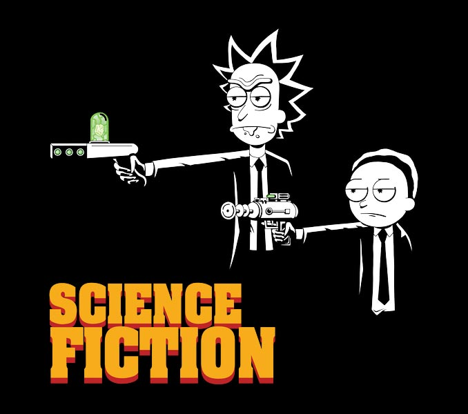 Rick and Morty Pulp Fiction T-Shirt