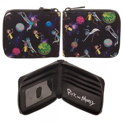 Rick and Morty Zip-Around Wallet