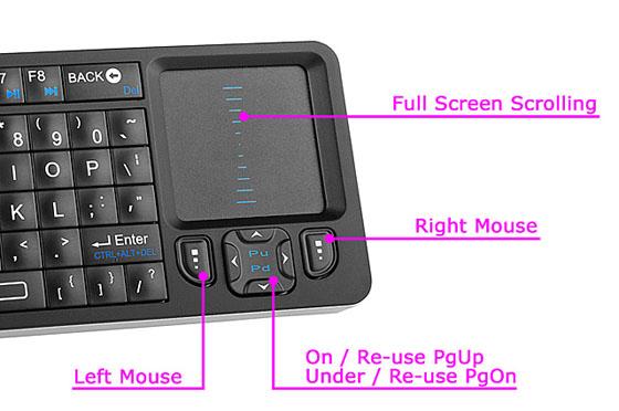 Rii Mini i6 Wireless Mini Keyboard and IR Remote