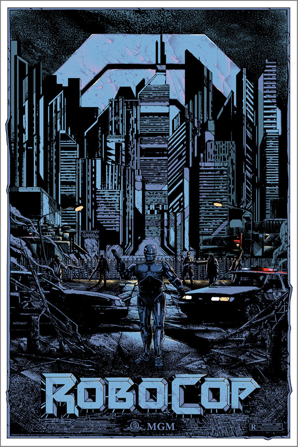 Robocop by Kilian Eng Art Print - regular edition