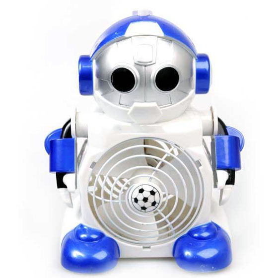 Cute Robot Shaped Cool Mini Desktop Fan