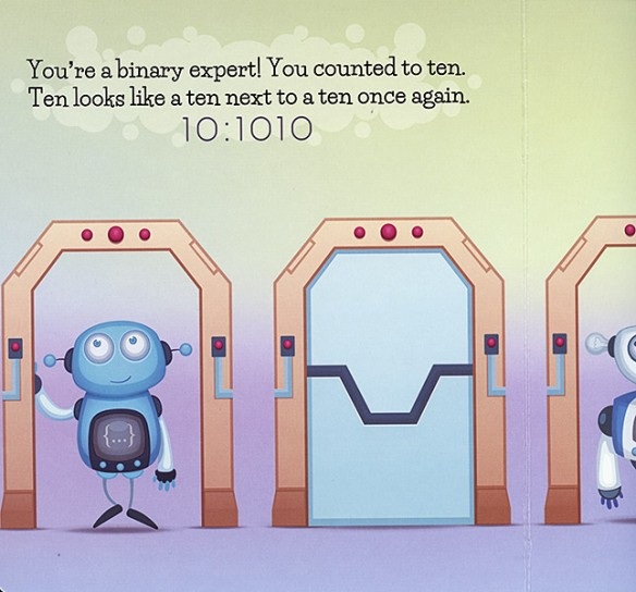 Robot Story learn Binary Book