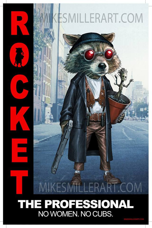 Rocket the Professional Art Print