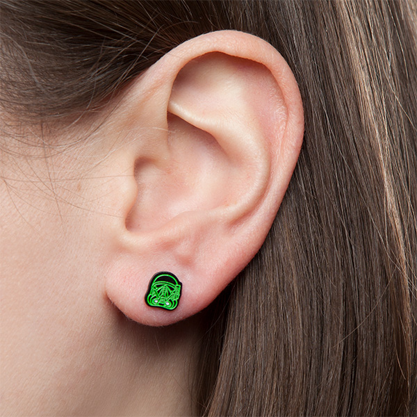Rogue One Death Trooper Glow-in-the-Dark Stud Earrings