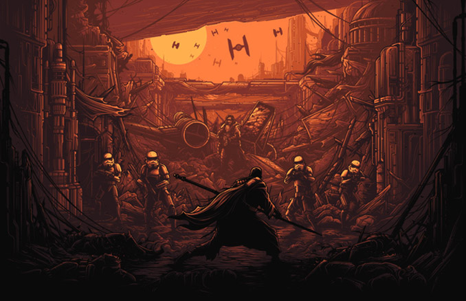 Rogue One I Am One With The Force Art Print