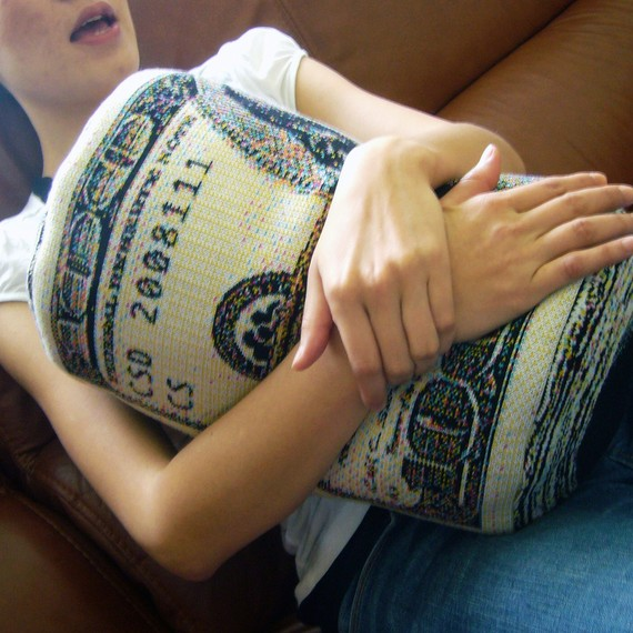 Rolled Banknote Shape Pillow