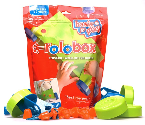 Rolobox - Reusable Wheel Kit for Boxes