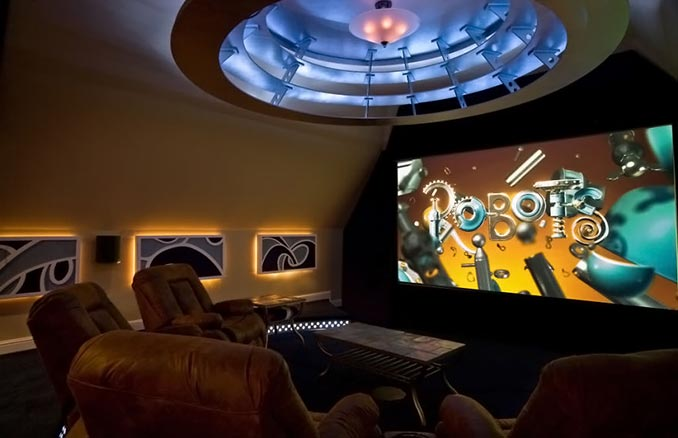 Rotating Home Theater