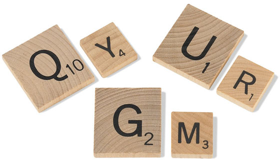 Rotating Oversized Scrabble Board Game