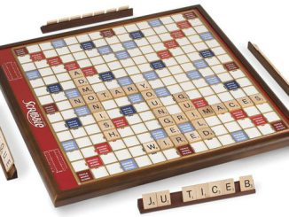 Rotating Oversized Scrabble Game
