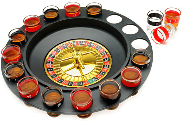 I think the Roulette Shot Glass Bar Drinking Game Set is exactly the kind of ...